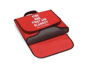 Honeywell 5560390case 66x80 Wool Fire Blanket W Redblack Trimmed Cordura Bag