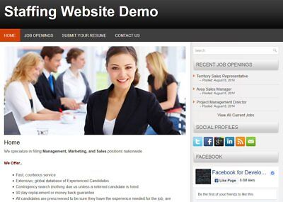 Staffing Web Site For Personnel Staffing Firm