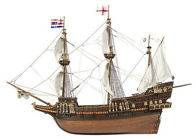 """Beautiful, brand new wooden model ship kit by OcCre: the """"Golden Hind"""""""
