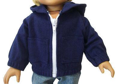 Navy Blue Hoodie Jacket for 18