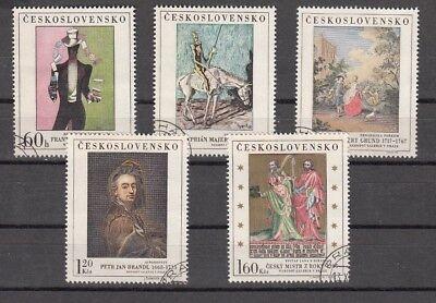 TSCHECHOSLOWAKEI, 1967 Kunstwerke 1748-52 gestempelt, (25841)