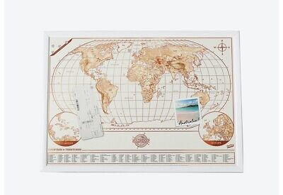Magni-Map Magnet Board World Map Tracker Poster.