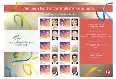 2013 Australia - SES / P-Stamp Sheet - Australian Of The Year Awards 2013