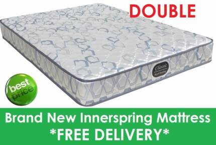 BRAND NEW Double Size Innerspring Mattress - DELIVERED FREE