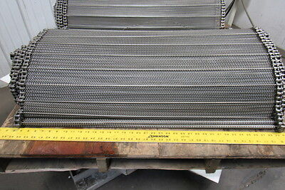 Stainless Steel Balanced Weave Chain Drive Wire Mesh Conveyor Belt 34 4 X 36