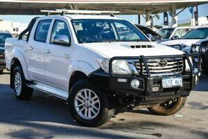 2015 Toyota Hilux KUN26R MY14 SR5 Double Cab Glacier White 5 Speed Manual Utility