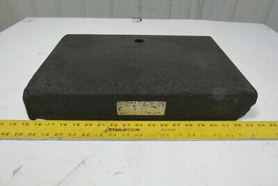 Standridge Black Granite Surface Inspection Plate 18 X 12 X 3 W1 Thru Hole