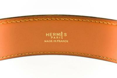 """Authentic HERMES """"Stirrup"""": Brown Leather & Gold Buckle Belt (fits 24""""- 27"""")"""