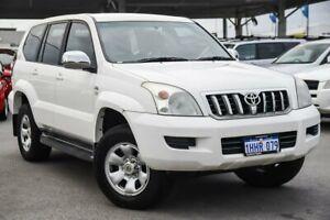2007 Toyota Landcruiser Prado KDJ120R 07 Upgrade GX (4x4) Powder White 6 Speed Manual Wagon