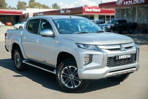 2020 Mitsubishi Triton MR MY20 GLS Double Cab Silver 6 Speed Sports Automatic Utility