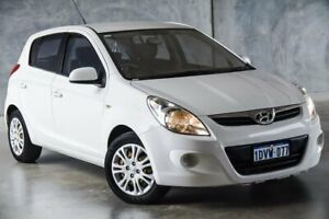 2012 Hyundai i20 PB MY12 Active White 4 Speed Automatic Hatchback Osborne Park Stirling Area Preview