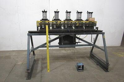 Fabco-aircustom 80 5 Station Pneumatic Press Metal Door Frame Clicker Press