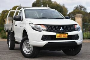 2018 Mitsubishi Triton MQ MY18 GLX 4x2 White 5 Speed Manual Cab Chassis Enfield Port Adelaide Area Preview
