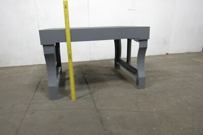 Vintage Cast Iron 55x47x35 Layout Inspection Work Table Bench Wcast Iron Legs
