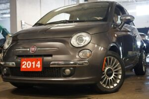2014 Fiat 500 Lounge,Low KMs, Bluetooth,Leather,Sunroof