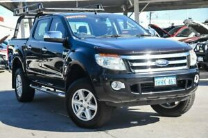2011 Ford Ranger PX XLT 3.2 (4x4) Black 6 Speed Manual Double Cab Pick Up