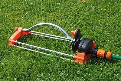 Oscillating Lawn Sprinkler Watering Garden Pipe Hose Water Flow with Connector