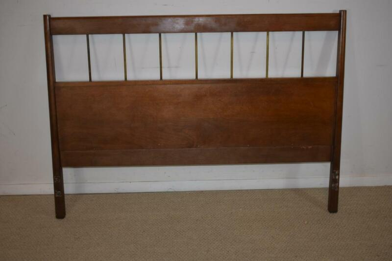 Paul McCobb Full Size Bed. Maple with Brass Rods