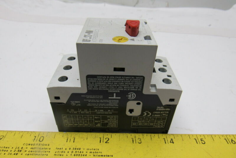 Eaton XTPB004BC1 Manual Motor Protector 2.5A -4.0A Thermal Overload