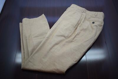 31804 Mens Peter Millar Performance Tan Flat Corduroy Dress Pants Size 34 x 32 Mens Corduroy Dress Pants