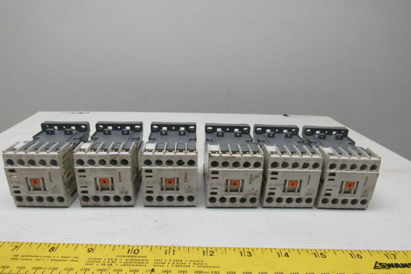 Carlo Gavazzi CGM-9A(D) 600V 3Ph 5Hp Max Contactor Lot Of 6