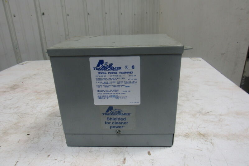 Acme T-2A-53328-1S 3KVA General Purpose Transformer 3Ph 480V Pri 240/120V Sec