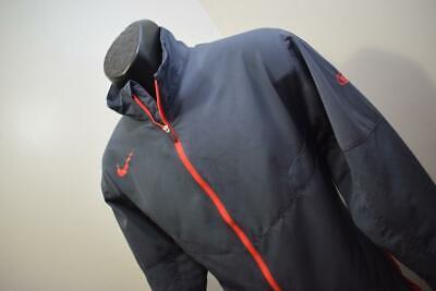 34805 Mens Nike Golf Dri Fit KIA Gray Full Zip WindBreaker Jacket Size Medium