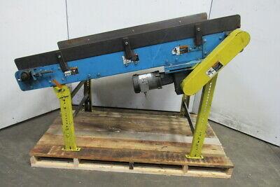 68 Long 18 Wide Slide Bed Belt Incline Conveyor 230460v 3ph 63fpm
