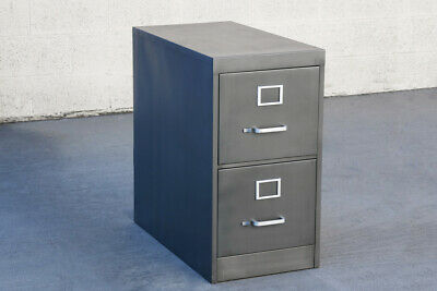 Mid Century Two-drawer Filing Cabinet Custom Refinished To Order