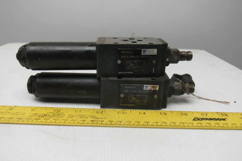 Rexroth ZDR6DP2-43 Direct Operated Pressure Reducing Valve 50L/Min Lot Of 2