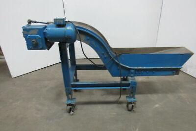 Portable 70 Incline Magnetic Chip Conveyor 8 Belt 42 Disc 45fpm 460v 3ph