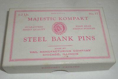 Vintage Majestic Kompakt Steel Bank Pins No. 17 Original Box