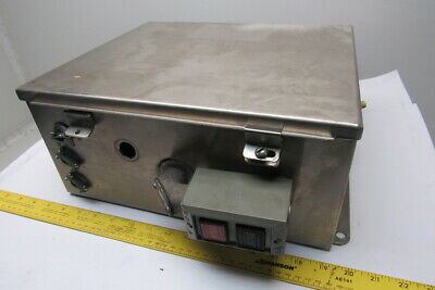 Hoffman 14x12x6 Stainless Steel Electrical Enclosure Machine Starter W Extras