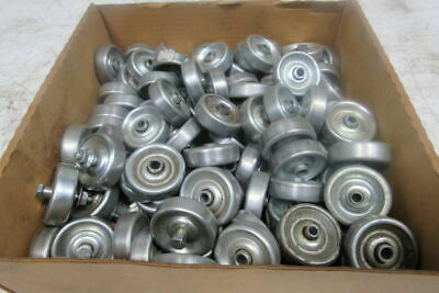 1.9 Steel Conveyor Skate Wheel 14 Shaft Bearing Lot Of 100