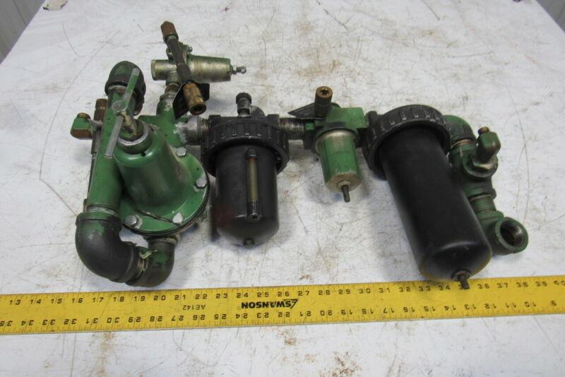 """Ross Air Pressure Regulator Filter Lubricator FRL Assembly 1"""" NPT"""