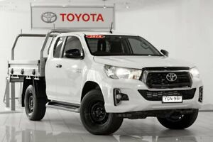 2018 Toyota Hilux GUN126R SR Extra Cab White 6 Speed Sports Automatic Cab Chassis Waterloo Inner Sydney Preview