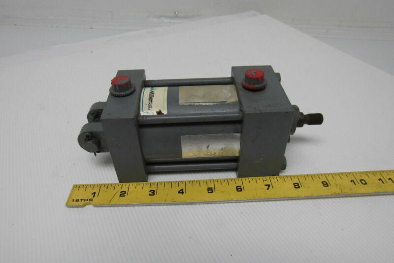 "Miller Fluid Power Pneumatic Tie Rod Cylinder 2-1/2"" Bore 1-1/2 Stroke"