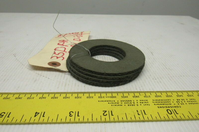 35DPR Torque Limiter Replacement Friction Discs Lot Of 4