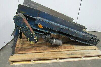 66 Long 18 Wide Cleated Slide Bed Incline Belt Conveyor 230460v 3ph 11fpm