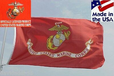 *USA MADE OFFICIAL USMC US Marine Corps MARINES EGA Indoor/Outdoor FLAG Banner