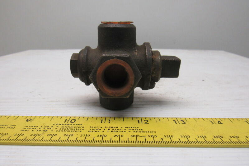 "Crane 4 Way 1/2"" Brass 2 Way Diverting Valve"