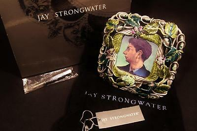"""Jay Strongwater Enamel & Jeweled Frame for 2.5"""" x 2.5"""" picture"""