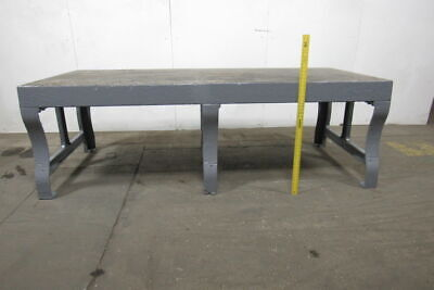 Heavy Duty Vintage Cast Iron Fabrication Welding Layout Work Table 108x47x35