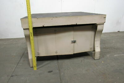 Vintage Cast Iron 55x47x35layout Inspection Work Table Bench W Cast Iron Legs