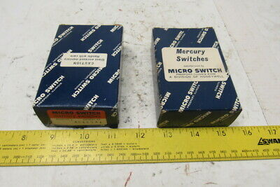 Micro Switch As419a1 Mercury Switches Lot Of 2