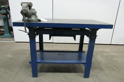 48x28x34 Web Cast Iron Fabrication Layout Welding Table Work Wilton Bullet Vise