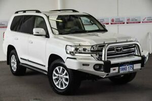 2017 Toyota Landcruiser VDJ200R MY16 Sahara (4x4) Crystal Pearl 6 Speed Automatic Wagon Myaree Melville Area Preview