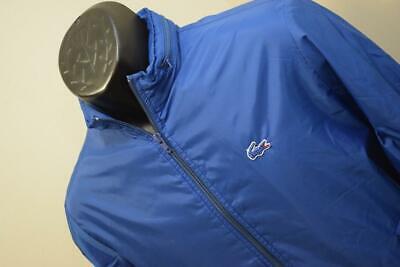 34621 Mens Vintage Lacoste Alligator Blue Full Zip Hooded Vented Jacket Medium