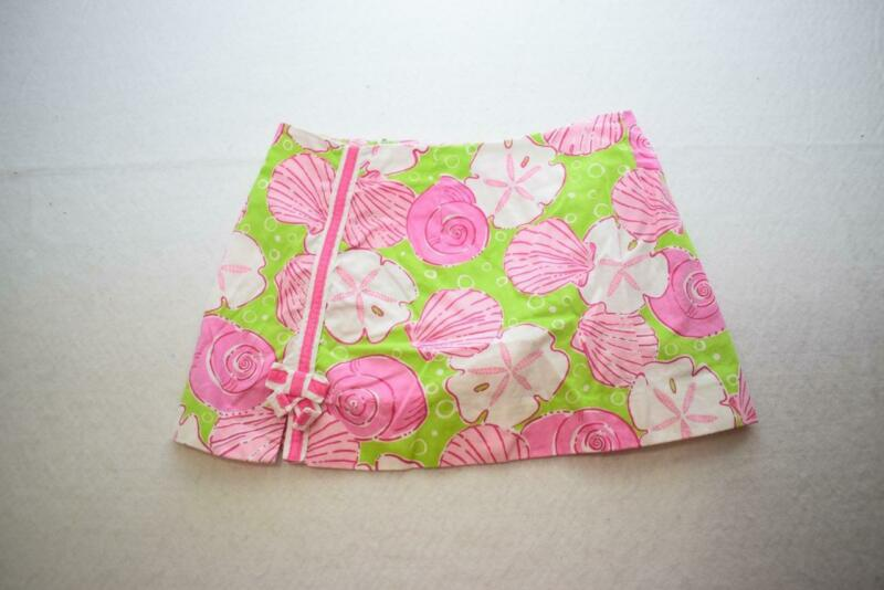 Lilly Pulitzer Floral Skirt Skort Girls Size 7