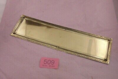 Brass  Door Finger Plate 509